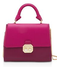 Ted Baker London Shirley Crystal Pearl Lock Lady Bag Leather MD Bright Pink/Gold