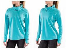 Women's Nike Relay Midweight Long Sleeve Running Shirt Large Dri-fit Teal NWT
