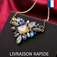 Collier Pendentif Strass Soirée Mariage Bijoux Femme Cadeau Anniversaire