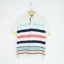 Vintage Pour Homme NAUTICA Rayé Couleur Bloc Polo Shirt L CONCURRENCE voile 4542