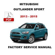 2013 2014 2015 MITSUBISHI OUTLANDER SPORT FACTORY SHOP SERVICE REPAIR FSM MANUAL