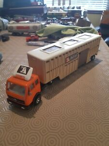 1980 Matchbox Superkings K8 Mercedes Benz Animal Transporter Truck Lorry Toy