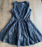 Womens Next Skater Style Dress Size 10 - Lace Overlay Effect