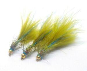 Blue Fibre Lite Flash Damsel Stillwater Lake Trout Flies Streamers Pulling Lures