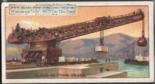 Titan Overhang Type Crane Setting Concrete Block 90+ Y/O Ad Trade Card
