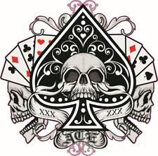 Ace of Spades with Skull - Gamer Vinyl Sticker Bedroom Door - Wall 056