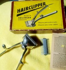 """Vintage SOLINGEN """"Hairclipper"""" Nr. 2G Chrome Clipper in Box W/ Instructions 50's"""