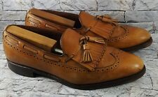 Allen Edmonds Mansfield Mens Brown Wingtip Tassel Kiltie Boat Loafers 10.5 B USA