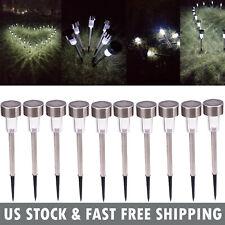 10PCS LED Solar Lights Walkway Path Landscape Lawn Lamps Power Outdoor Equipment