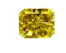 GIA Certified Fancy Deep Yellow Color Radiant Cut Natural Loose Diamond 1 CT VS2