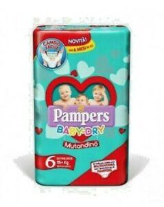 2X PAMPERS pannolini BABY-DRY MUTANDIN0 NEW  TAGLIA 6. (15+ KG)