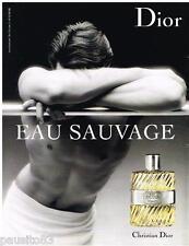 PUBLICITE ADVERTISING 095  2007  DIOR  eau de toilette homme  EAU SAUVAGE