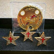Texas Knights Templar Commander's Set Freemason Masonic Cross Crown Fundraiser