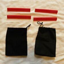 Scrabble Tile Holders Racks 4 RED Plastic Replacement Pieces Parts w/ 2 Bags