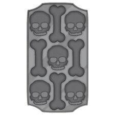 "8.5"" Halloween Horror Party Skulls & Bones Flexible Plastic Ice Cube Tray"
