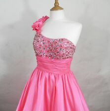 New Pink Satin and Silver Sequined Ball Gown / Prom Dress by Scarlett  Size 8
