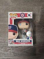 Funko Pop! MLB Washington Nationals #16 MAX SCHERZER Baseball ⚾ COLLECTIBLE ⚾