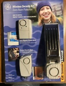 New GE WIRELESS SECURITY KIT DORM ROOM + ANY ROOM PROTECTION FACTORY SEALED