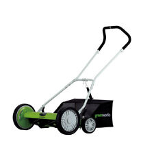 Greenworks 25062 No Gas Contact Free 18 Inch Reel Lawn Mower with Grass Catcher