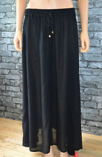 New Long Black Khaki White Crinkle Flowing Maxi Gypsy Skirt Uk 10 16 18 20 22 24