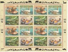 Un Geneva Vulnerable Love Animals Sheetlet 2000 Hippo Otter Etc (MNH)