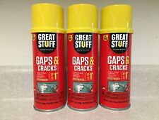 3 Cans Dow Great Stuff Gaps Amp Cracks Expanding Foam Sealant Insulation 12oz