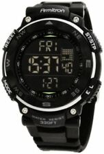 Armitron Men's Black Resin Watch, 100 Meter WR, Chronograph, 40/8254BLK