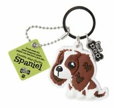 Wags & Whiskers Cavalier King Charles Spaniel Dog Keyring 00204000009