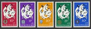 Suriname, 1966 Easter Charity. SG 589-93 Fresh Unmounted Mint MNH