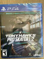 Tony Hawk's Pro Skater 1 + 2 PS4 Brand New Sealed Fast Ship w Tracking