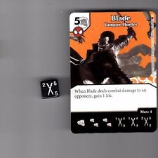 DICE MASTERS AMAZING SPIDER-MAN COMMON #39 BLADE VAMPIRE HUNTER CARD WITH DICE