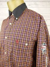 Vintage Wrangler Western Shirt PBR Professional Bull Riders Embroidered Sz L