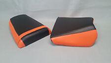 Suzuki SV Seat Cover Set SV650 03-2010 2-TONE BLACK & ORANGE or 25 COLORS (ps)