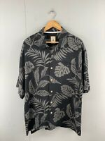 Jamaica Jaxx Men's Vintage Short Sleeve Hawaiian Shirt - Black - Size XL