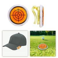 Golf Hat Clip Plastic Golf Ball Marker Level Ball Marker for Golfer Gift Orange