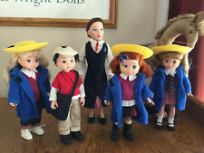 Vintage Madeline and Friends (5 dolls) Learning Curve Brand 2003
