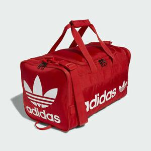 adidas Originals Santiago 2 Red Big Trefoil Logo Duffel Gym Travel Work Bag NEW