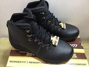 Skecher Edgin Black Leather Memory Foam Boots UK 9 EUR 43