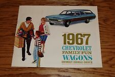 Original 1967 Chevrolet Station Wagon Sales Brochure 67 Chevy II Chevelle