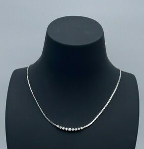 Carl Bucherer Halskette - Collier 18K Weißgold mit 9 Diamanten
