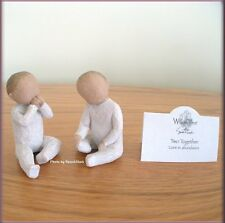 TWO TOGETHER TWINS FIGURINES FROM WILLOW TREE® ANGELS FREE U.S. SHIPPING