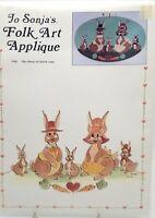 Folk Art Embroidery Applique Hares of Hutch Lane 5106 New Vintage 1983