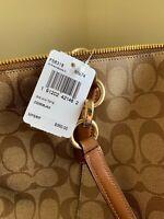 Authentic Coach Signature Pocket Tote Khaki Beige Color $350