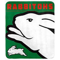 NRL Polar Fleece Blanket - South Sydney Rabbitohs - 150x130cm - Rugby League
