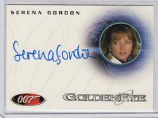 James Bond in Motion Serena Gordon auto card