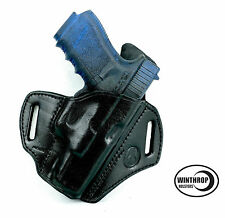 Winthrop Holsters™ OWB Pancake Right Hand Black Leather Holster For Glock 21
