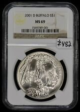 2001-D $1 American Buffalo Commemorative Silver Dollar - NGC MS 69 - Lot#Z482