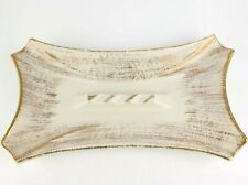 Vintage ROYAL HAEGER Mid-Century Modern GOLD Tweed Ashtray