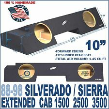 88-98 CHEVY SILVERADO GMC SIERRA EXT EXTENDED CAB SUB BOX SUBWOOFER ENCLOSURE