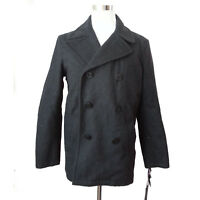 Tommy Hilfiger Men Size M Charcoal Gray Wool Blend Peacoat New